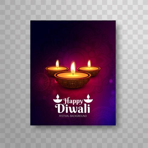Diseño colorido hermoso moderno del folleto de Diwali