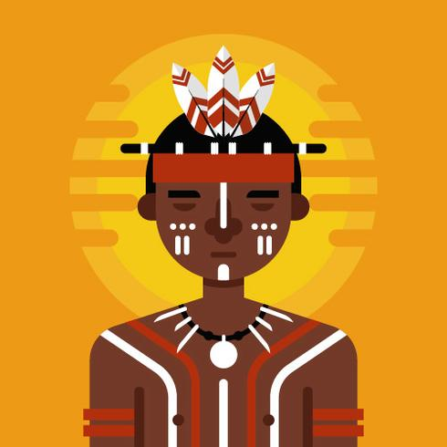 Inheemse karakter Vector