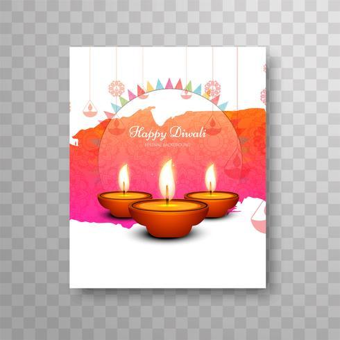 Modernes schönes diwali modernes Broschürendesign