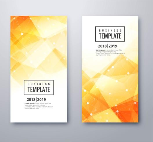 Abstract polygon business banner template set design