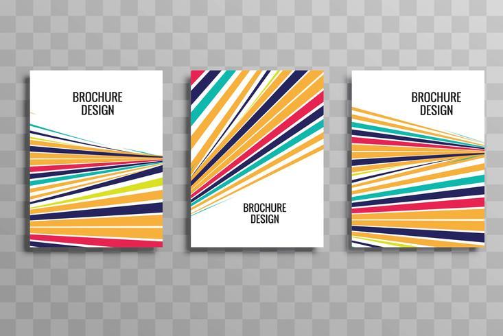 Abstract kleurrijk het malplaatje vastgesteld ontwerp van de golf bedrijfsbrochure
