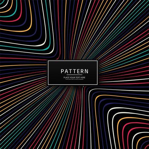 Moderne bunte kreative Linien Muster Design
