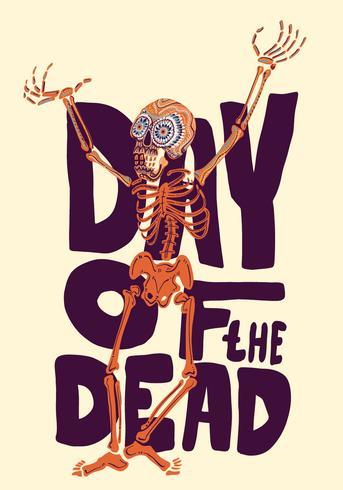 Dag van het Dode Vectorontwerp