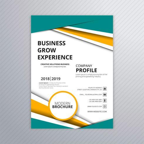 Diseño de plantilla de folleto de negocios colorido elegante