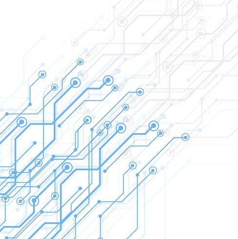 Abstrakte TechnologieLeiterplatte, Vektorhintergrund