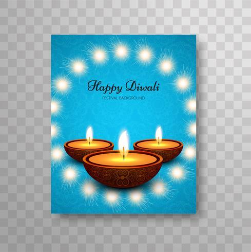 Modern kleurrijk ontwerp van de diwali modern brochure