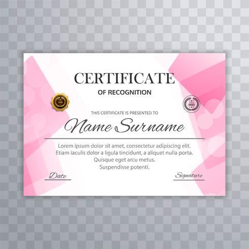 Abstracte certificaat diploma sjabloon vector