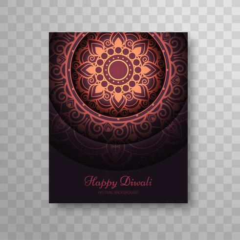 Moderno moderno colorato diwali design brochure moderna