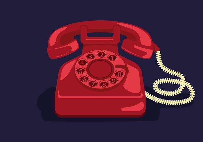 Rotary Telephone Vector Illustration