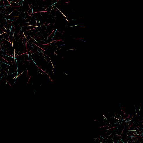 Abstracte kleurrijke lijnen donkere vector als achtergrond