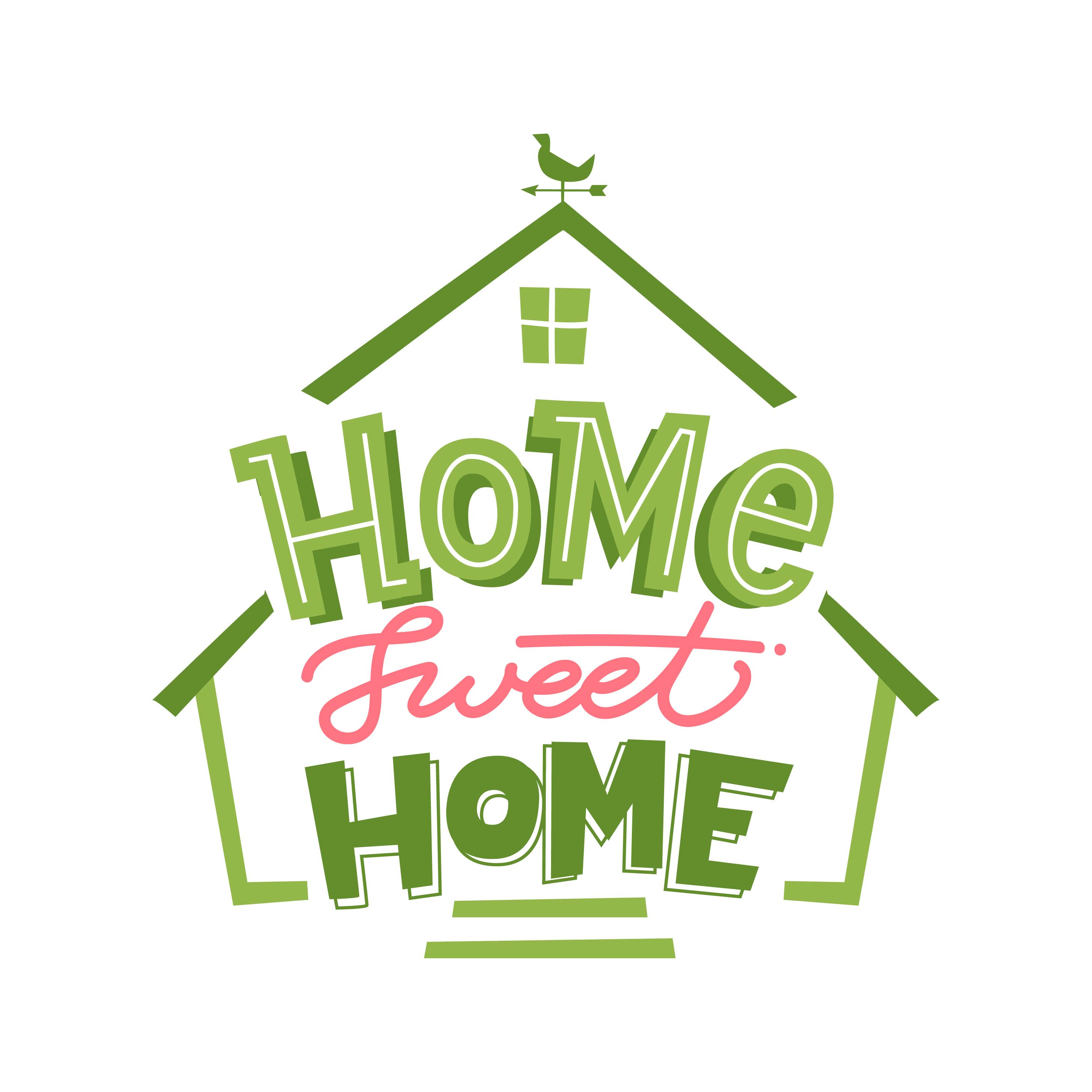 Home Sweet Home Lettering Layout - Download Free Vectors ...