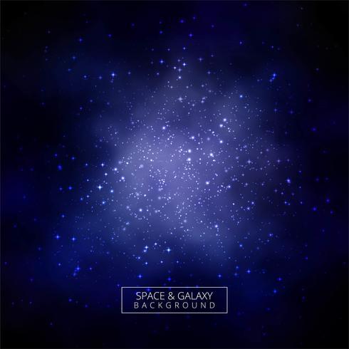Fond bleu lueur belle galaxie colorée