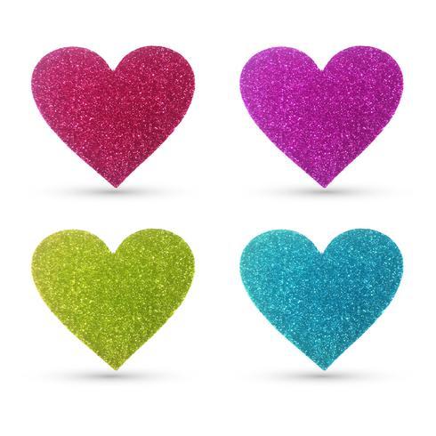 Modern glitter heart designs
