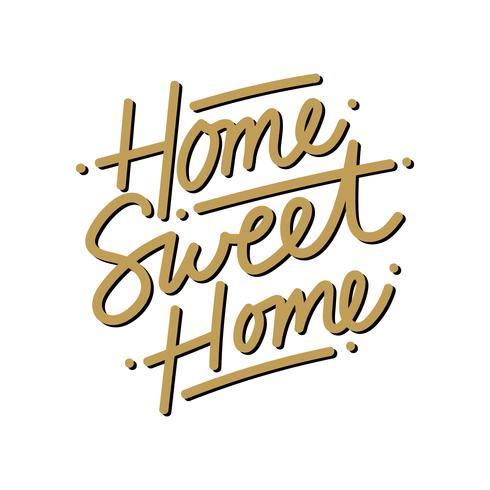 Home Sweet Home belettering Vector