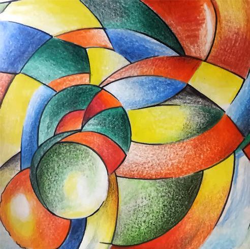 Moderne kleurrijke aquarel achtergrond