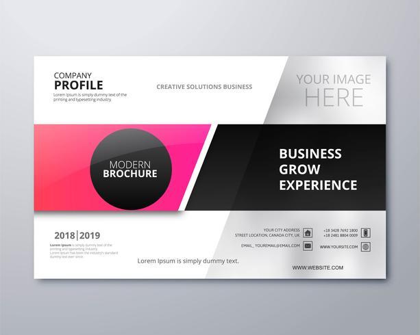 Ontwerp van de moderne zakelijke brochure creatieve sjabloon