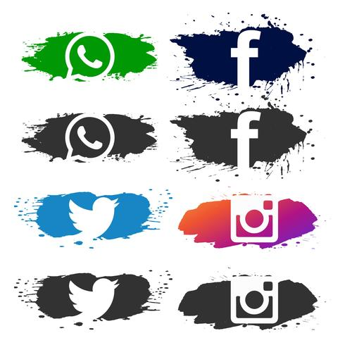 Abstracte sociale media pictogram vastgestelde vector