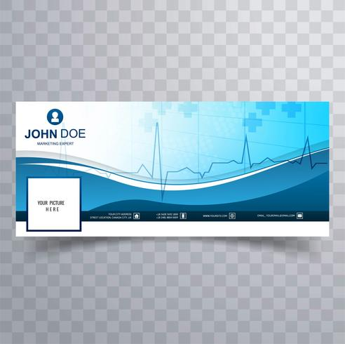 Medical facebook timeline template design vector