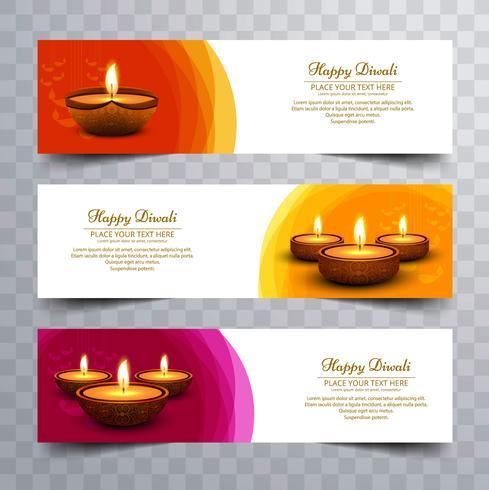Moderne Diwali-Banner-Design