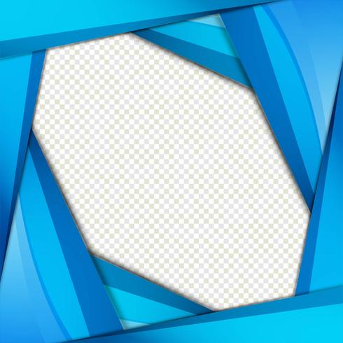 Abstrakter blauer wellenförmiger Hintergrundvektor