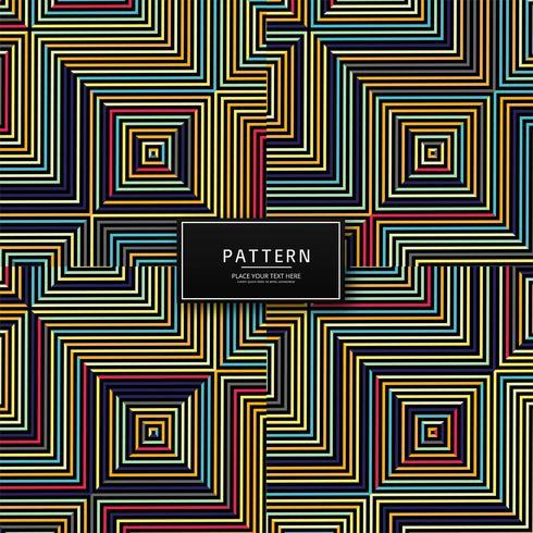 Abstract kleurrijk geometrisch lijnenpatroonontwerp