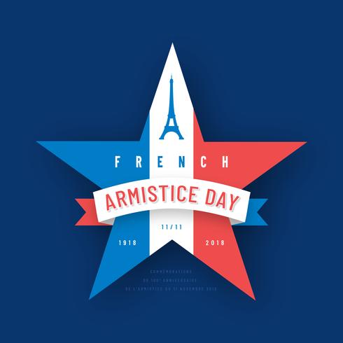 Französischer Waffenstillstand Tag Vektor Konzept Design