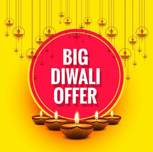 Diwali festival kort design bakgrund