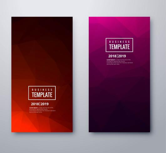 Beautiful stylish colorful polygon business banner template set