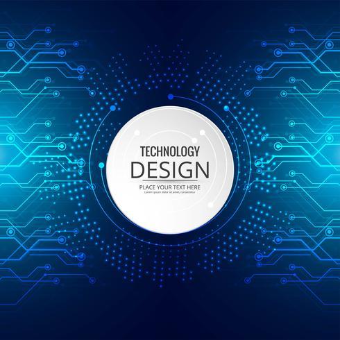 High-tech technologie blauwe achtergrond printplaat vector illust