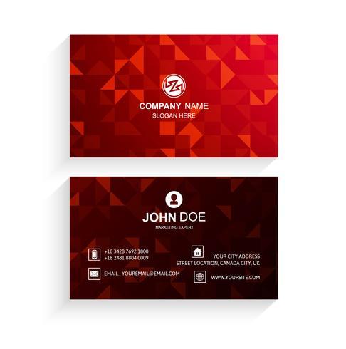 Het abstracte rode vectorontwerp van de adreskaartjemalplaatje