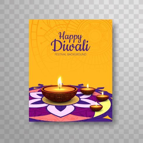 Moderne Happy Diwali Broschüre