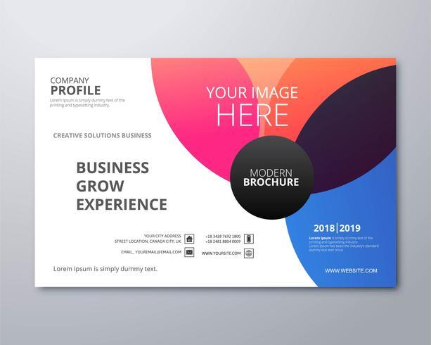 Mooie kleurrijke de illustratievecto van het bedrijfsbrochuremalplaatje