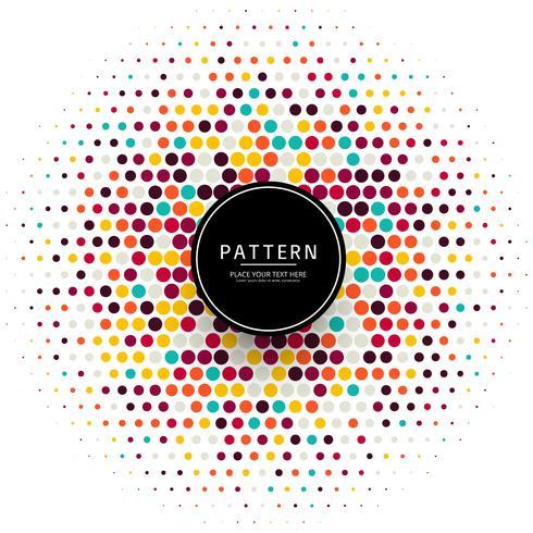Illustration de fond de demi-teintes de points colorés élégant