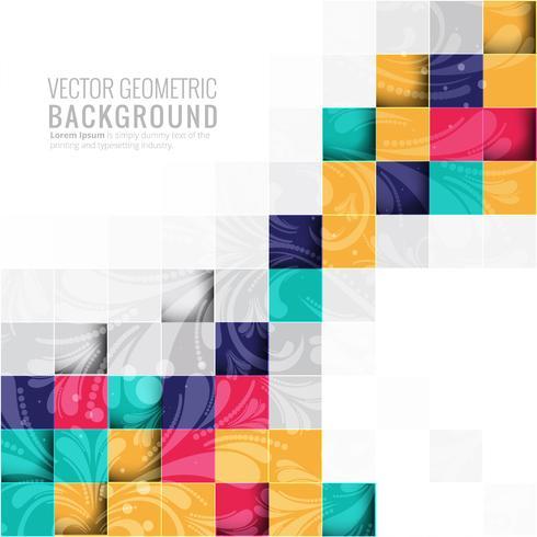 Moderne kleurrijke blokkenvector als achtergrond