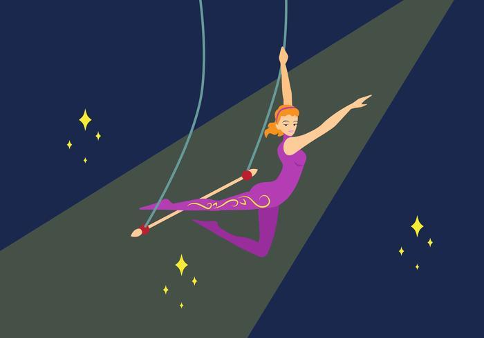Trapeze kunstenaar vectorillustratie