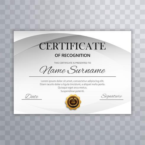 Kreatives Schablonendesign des modernen Zertifikats