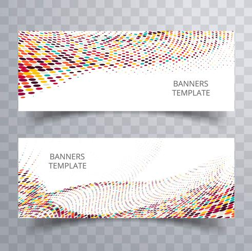 Abstract colorful dotted banner set design
