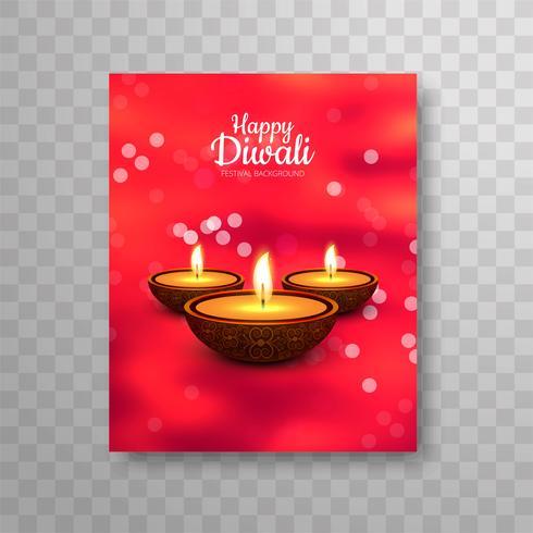 Modern mooi kleurrijk diwali brochureontwerp