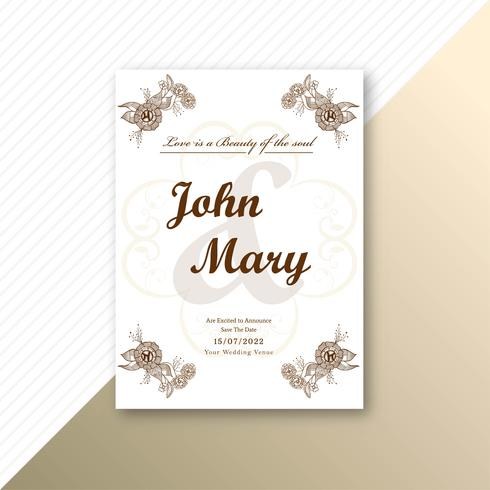 Invitation wedding card decorative floral template background