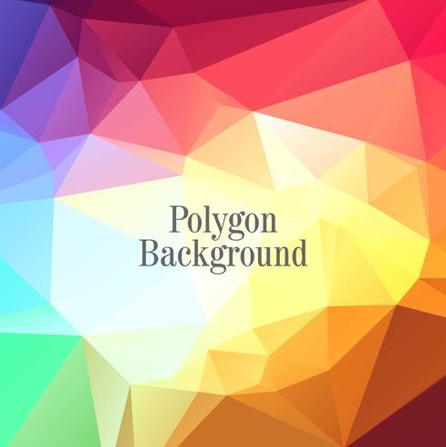 Abstracte glanzende kleurrijke veelhoek achtergrond vector