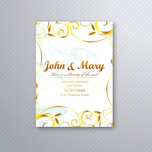Beautiful wedding card floral template background vector