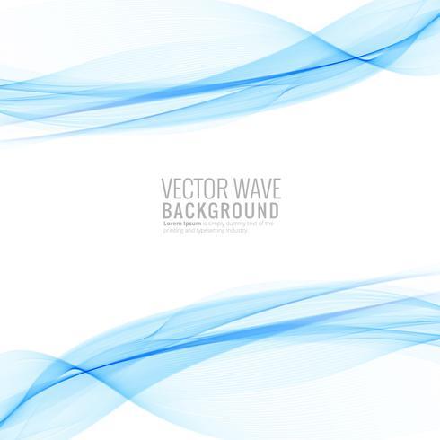 Abstrakter blauer eleganter Wellenhintergrund