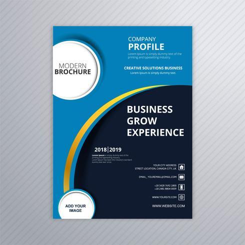Design de modelo de folheto moderno azul business