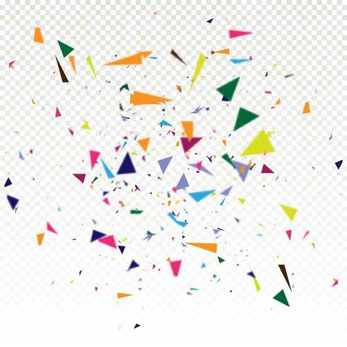Abstrait coloré confetti chute