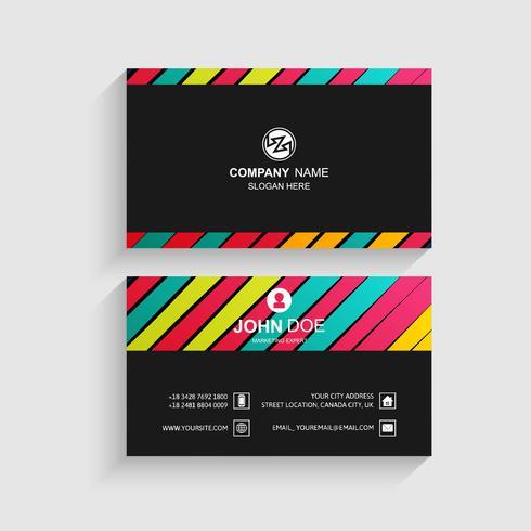 Modernt färgglatt visitkort malldesign