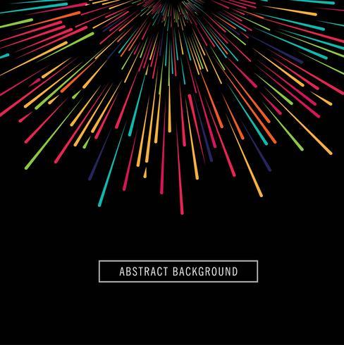 Elegant färgstark strålar bakgrunds vektor