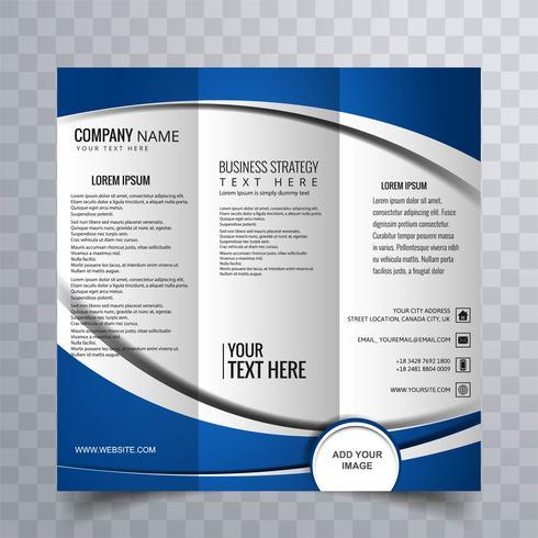 Moderne driebladige brochure
