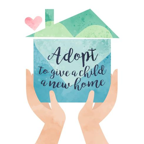 Illustrazione di consapevolezza di adozione
