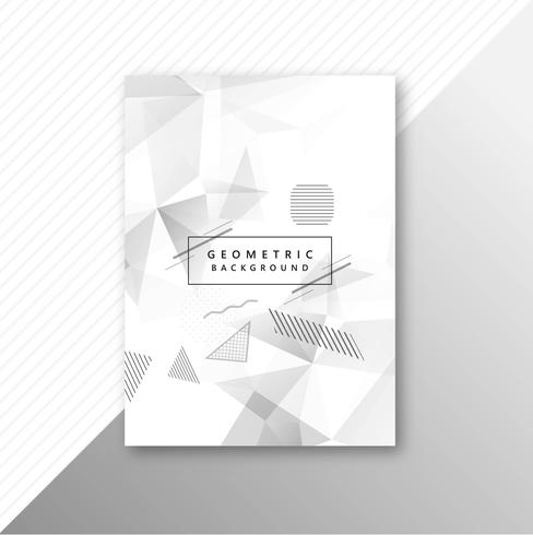 Abstract gray geometric polygon template brochure design vector