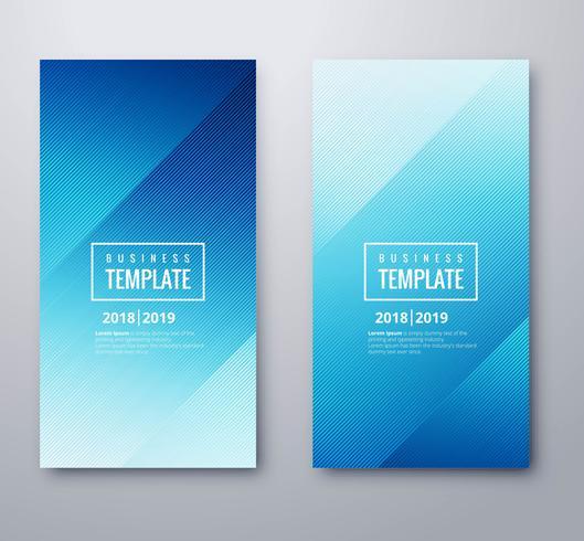 Abstraktes blaues Geschäftsfahnenschablonen-Bühnenbild